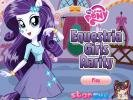 Equesteria Girls Rarity dress up.
