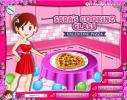 Sara`s cooking game: Valentine Pizza