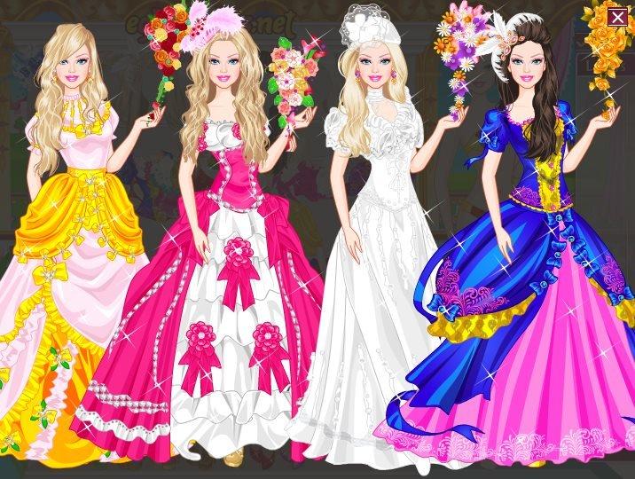 wedding dress games barbie