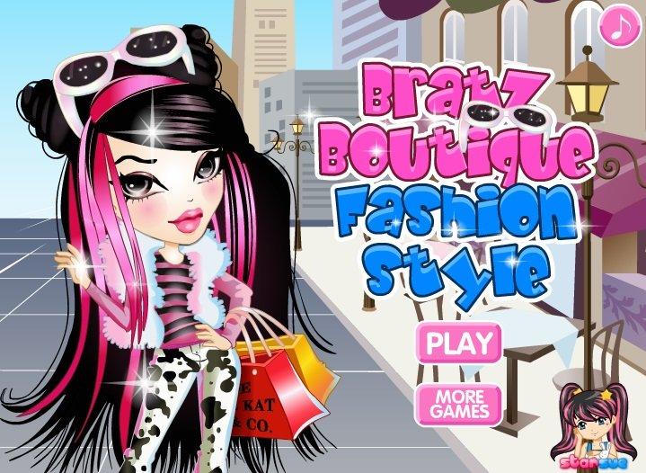 Bratz in a fashion boutique Dress Up game