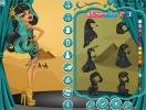 Choose a new dress for Cleo De Nile From Monster High.