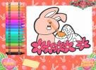 Coloring Easter bunny.