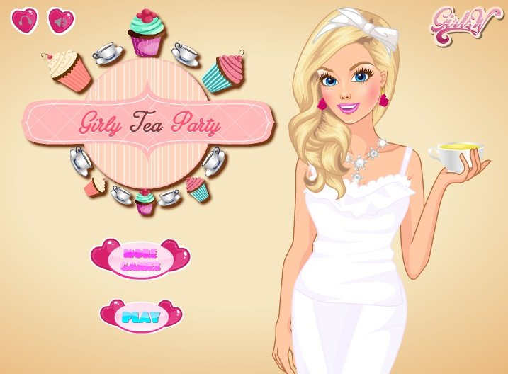 Girly Tea party game