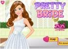 Beautiful and pretty bride dress up game.