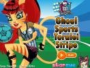 Ghoul Toralei dress up game.