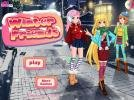 Winter anime dress up game.