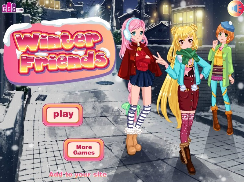 Winter Anime Dress Up Game