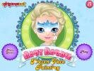 Baby Barbie Frozen Face Painting game.