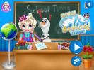 Baby Elsa School time game.