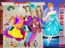 Barbie Night Fairy dress up game.