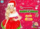 Barbie Santas Helper dress up game.