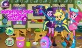 Equestria Girls Classroom Cleaning game.