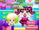 Cinderella and Draculaura Babies dress up game.