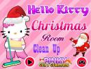 Hello Kitty Christams Room Clean up game.