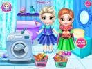 Frozen Sisters Washing Toys games for girls.