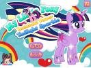 Twilight Rainbow MLP dress up game.