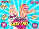 Super Barbie Lazy Day dress up game.