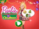 Barbie Coming Home for Christmas dress up game.