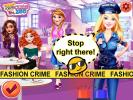 Barbie in police fashion game.