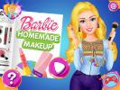 Barbie homemade make up game.