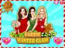 Barbie winter glamour dress up game.