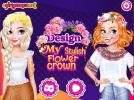 Design My Stylish Flower Crown game.