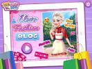 Elsa fashion blogging dress up game.