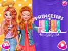 Princesses Message Tees dress up game.