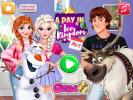 A Day In Ice Kingdom dress up game.
