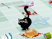 Game Cat and the kitchen