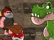 Caveman against dinosaur game