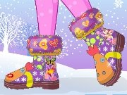 Colorful boots game