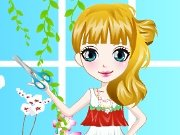 Girl in a flower shop game