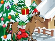 Horse picks up the presents game