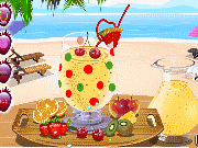 Make up a fruit cocktail game