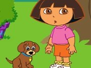 Train the puppy with Dora