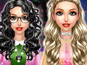 Amber Nerdy vs Trendy Dress Up Game