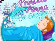 Fun game Princess Anna arm surgery