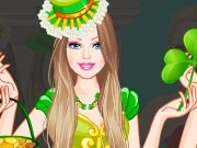 Game Barbie on St. Patricks Day
