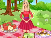 Game Barbie picnic decoration