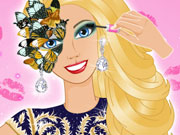 Barbie's Glam Ball Makeup game