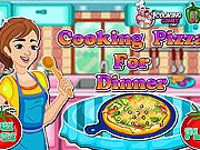 Cooking pizza for dinner game