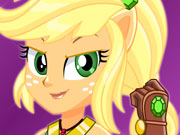 MLPEG Crystal Guardian Applejack dress up game