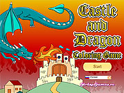Game Castle and Dragon Coloring Game