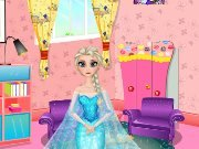Elsa room decoration game