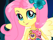 Crystal Gala Fluttershy Dress Up game