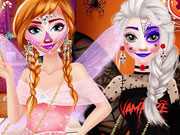Frozen Sisters Halloween Party game