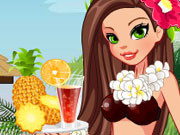 Hula Girl dress up game