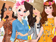 Moana Garden Party Dress Up Game game