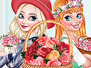 Fun game Princesses Florists